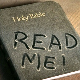 Bible with dust