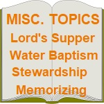 Miscellaneous Christian Topics